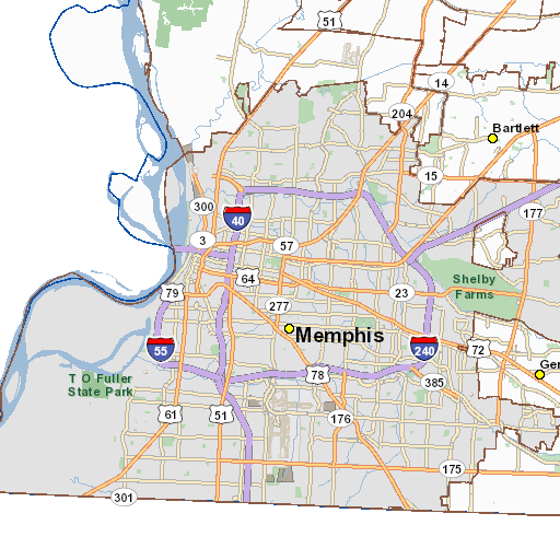ArcGIS - Map Memphis Education Colleges & Universities